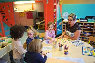 Les enfants de la maternelle ont rapidement étaient mis en confiance avec des jeux.