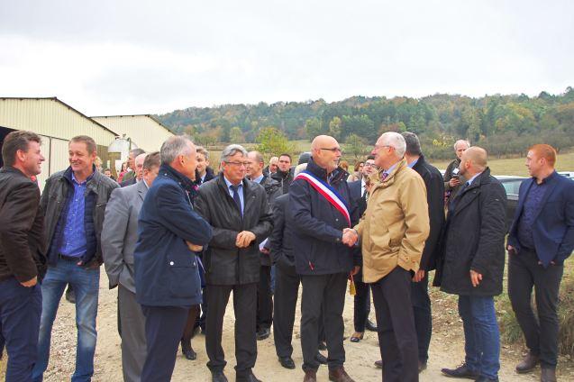 Arrivée du préfet des Vosges, Pierre Ory.