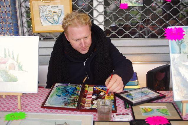 L'artiste aquarelliste Pierrick Lourme.