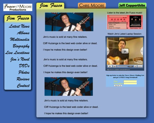 New Fusco-Moore Music site design prototype