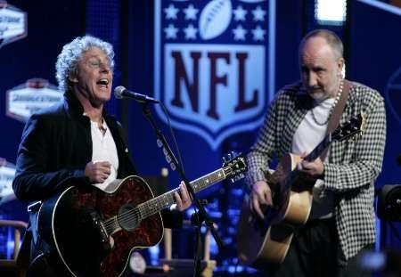 The Who, performing an acoustic set the week before Super Bowl XLIV.