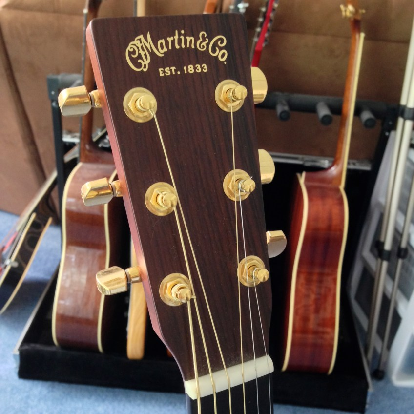 Head of Martin MMV Acoustic Guitar