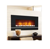 Electric Glass Wall Mount Fireplace Heater Remote ...