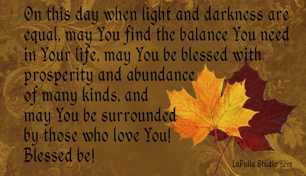 Fall Blessings Wallpaper Mabon Pagan Holiday Card Lapulia Book Of Shadows