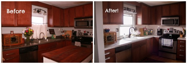 kitchen before and after phase 2