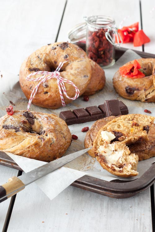 bagel chocolat baies goji4