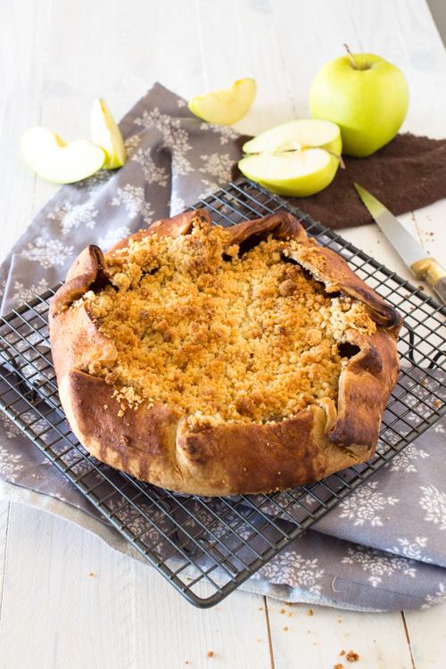 Tarte Rustique aux Pommes façon Crumble