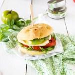 focaccia sandwiche tomate mozza