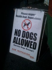 No Dogs Allowed at Larchmont Farmers Market