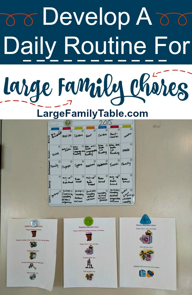 Develop A Daily Routine For Large Family Chores - Jamerrill\u0027s Large