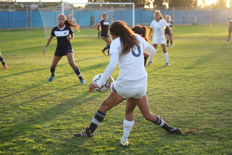Southern California Regional playoff bracket play Irvine Valley College player shot over top post in regulation
