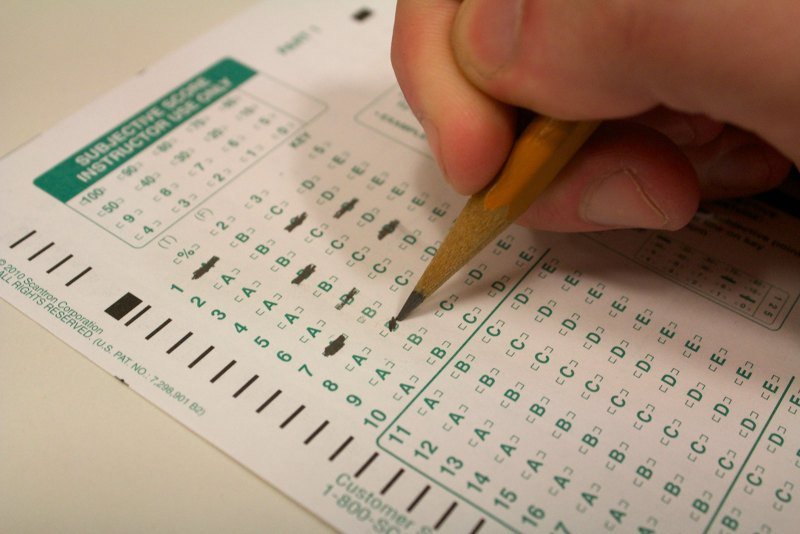 Tests such as these have been a common and unchanging facet of American education. That's undoubtedly why test scores are low and stagnant. (Photograph by Niko LaBarbera)
