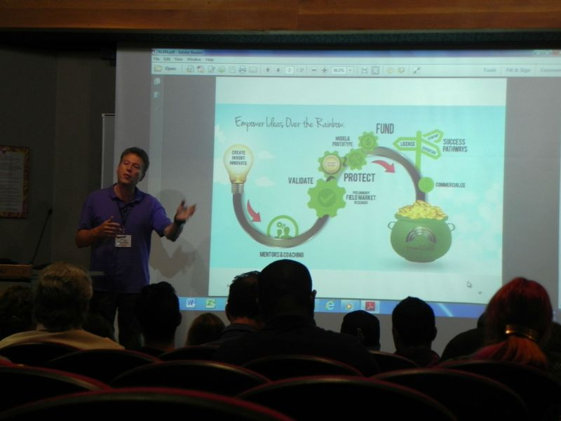 Guest speaker from CEO Space enlightening students on how to create a business and make money. (Photo by Paige Denholm)