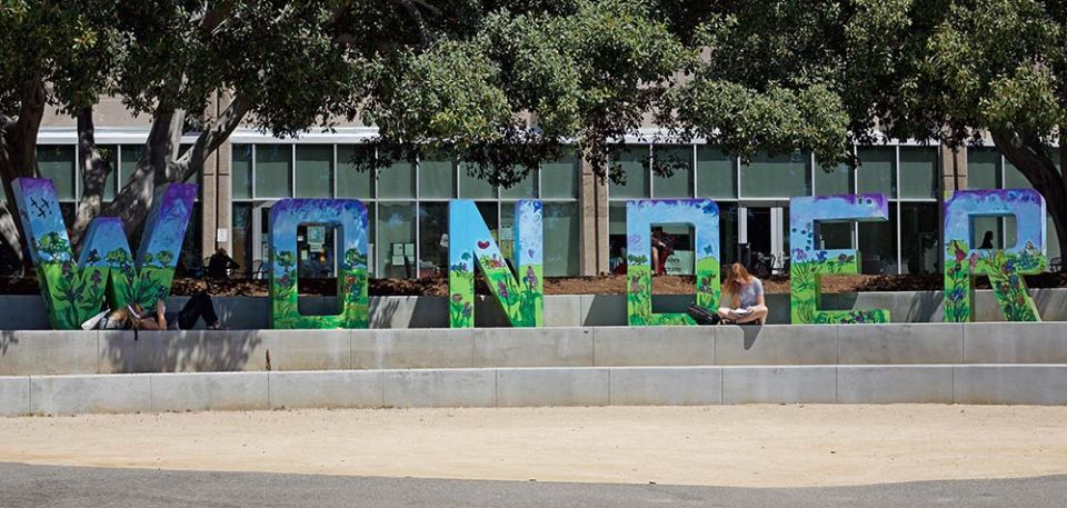 The new 'wonder' letter display leave student's wondering where they came from. (Niko LaBarbera/Lariat)