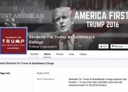 Unknown Trump supporters created a Saddleback Chapter of Students for Trump Facebook page. (Facebook)