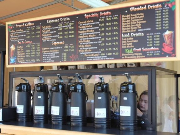 The coffee carts are self-serve. Meaghan Corkill/Lariat
