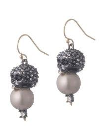 Alexis Bittar Crystal Encrusted Skull Pearl Drop Earring ...