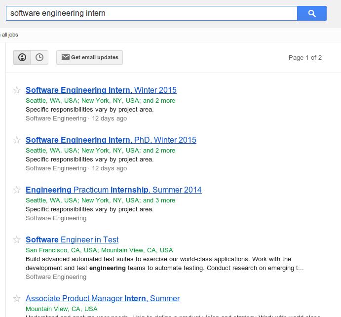 google internship usa
