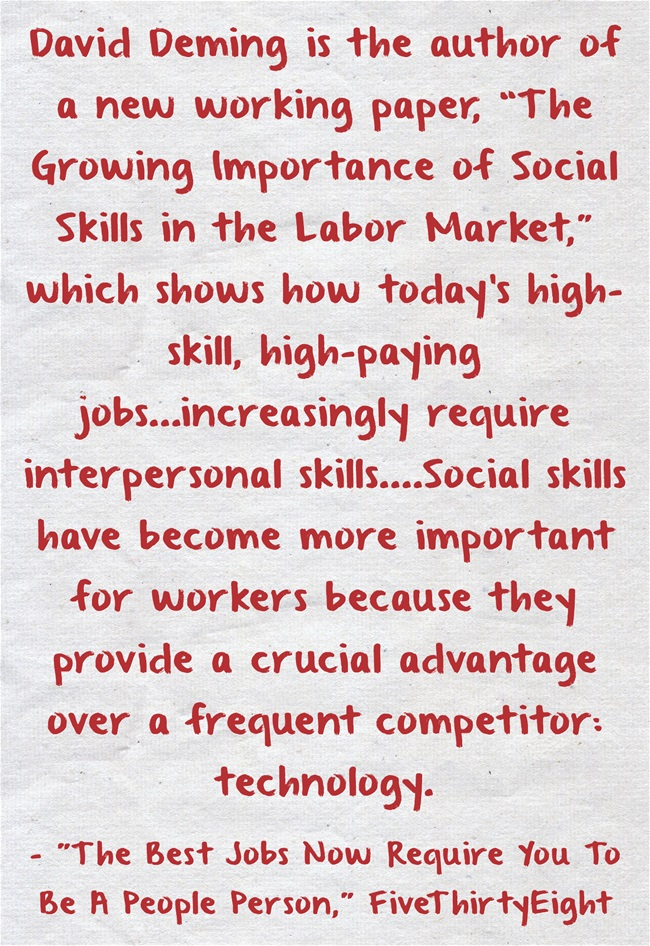 Statistic Of The Day Employers Want People With Strong Social