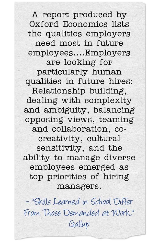 New Report On Qualities Employers Want In New Hires Larry - what skills and qualities do employers look for