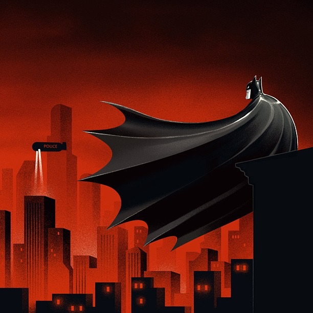 Animated Sky Wallpaper Mondo To Release Batman The Animated Series 12 Die Cut