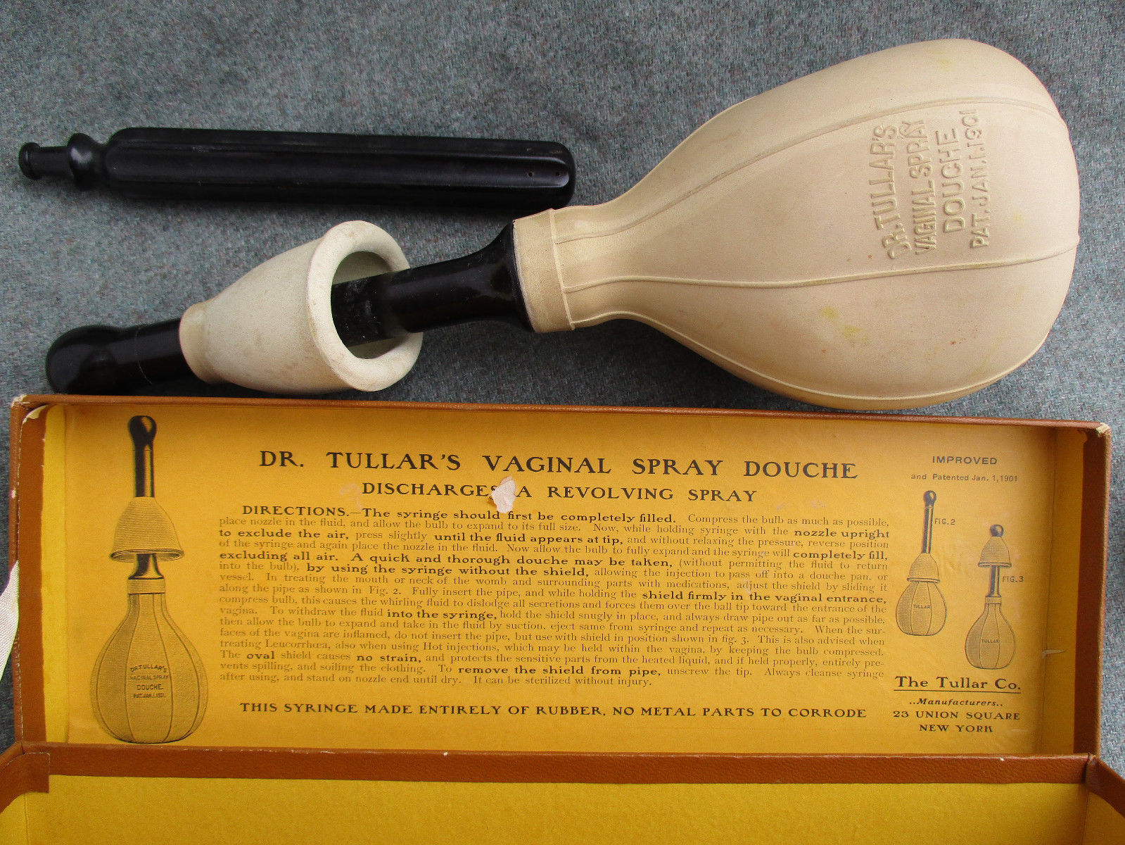 Part Douche Vintage 1901 Dr Tullars Vaginal Spray Douche Kit