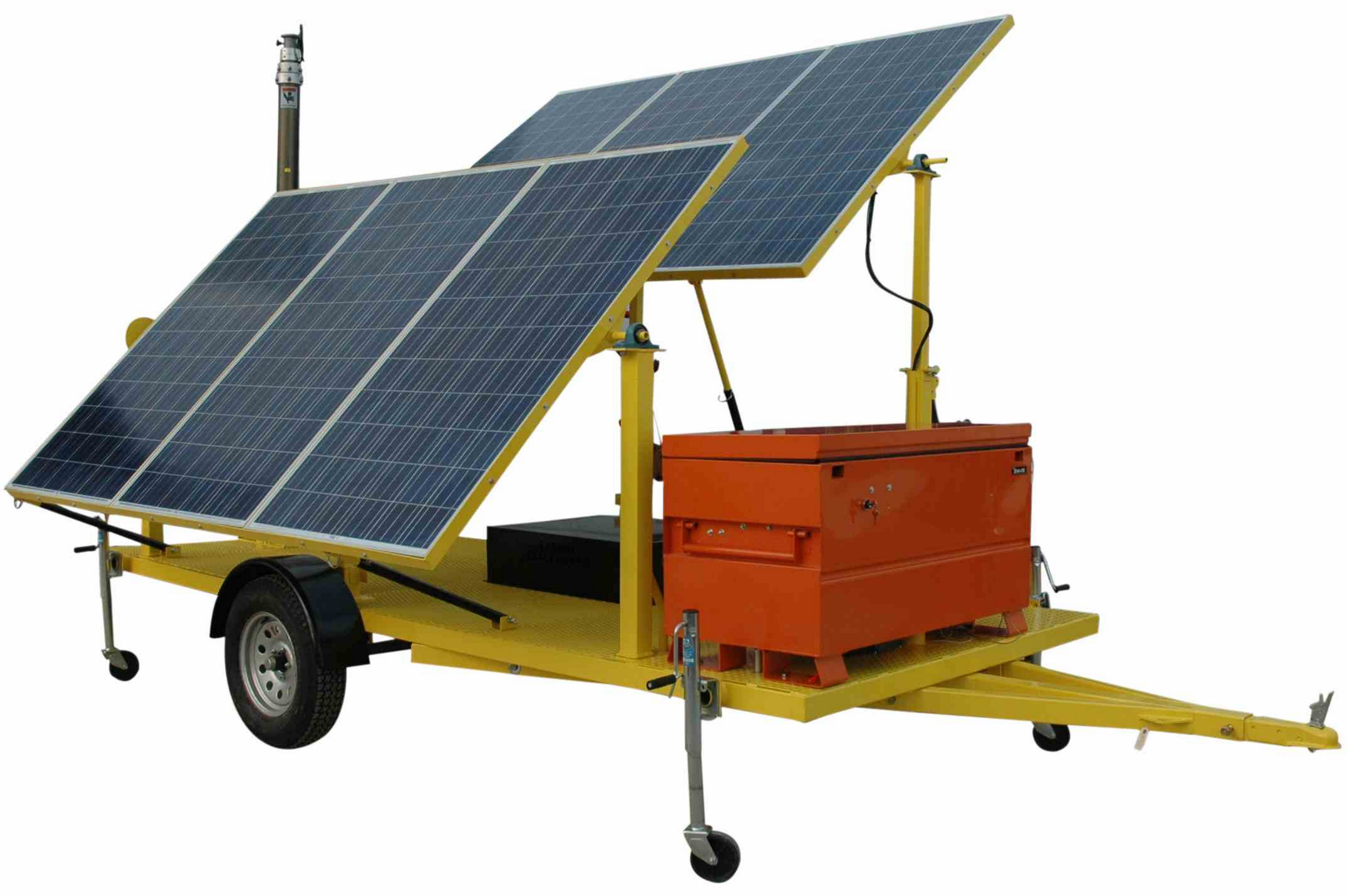 Led Panel 80 X 30 1.8kw Solar Power Generator With Pneumatic Light Tower Mast - Larson Electronics