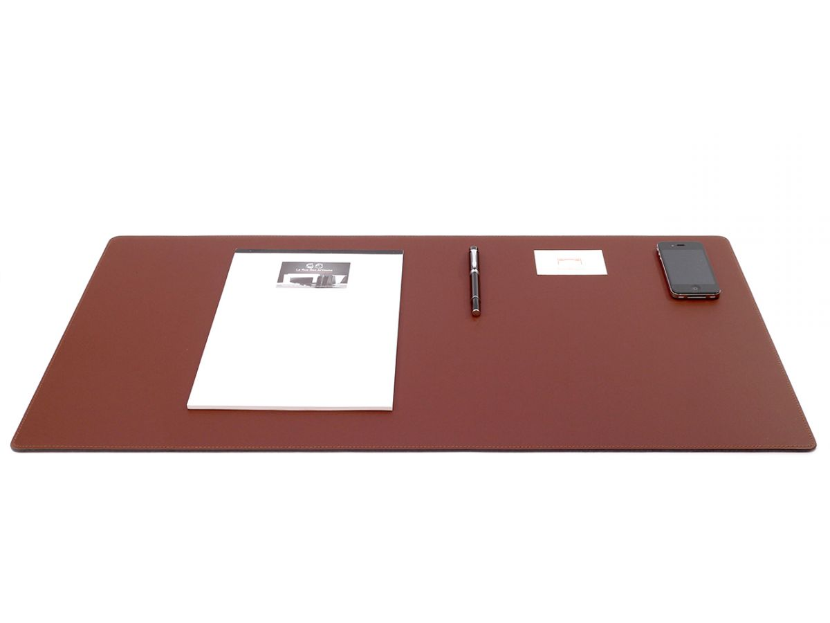 Grand Sous Main Bureau Grand Sous Main De Bureau En Cuir Marron 80 Cm Par 40 Cm