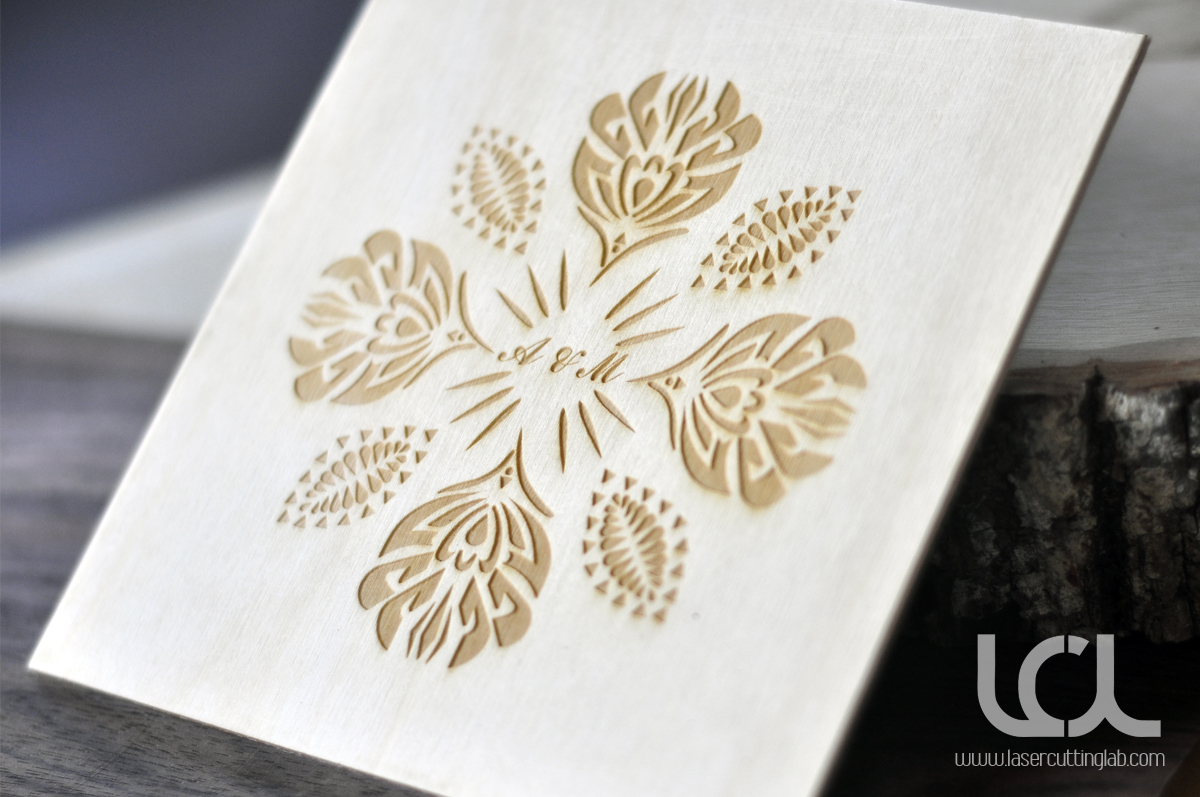 Wedding Invitations Laser Cut Matik For