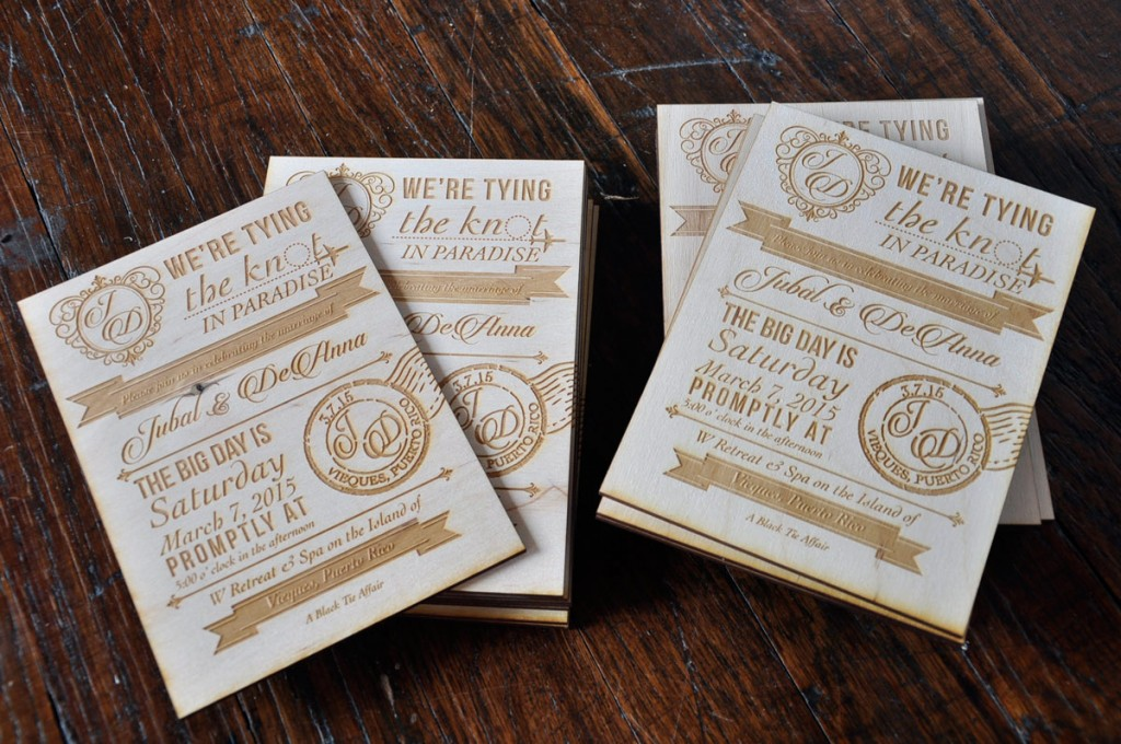 Vintage Wood Wedding Invitations 5quot X 7quot