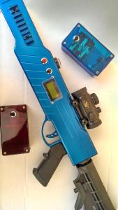 Lasergame Equipment in blau