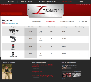 iCombat Lasertag Equipment online functions