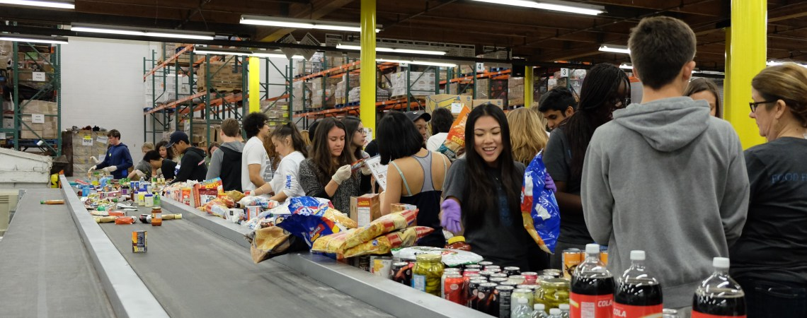 LASA Works A Shift at the LA Food Bank