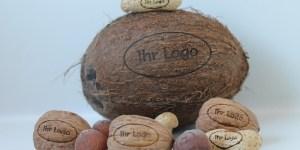 Nüsse mit Logo