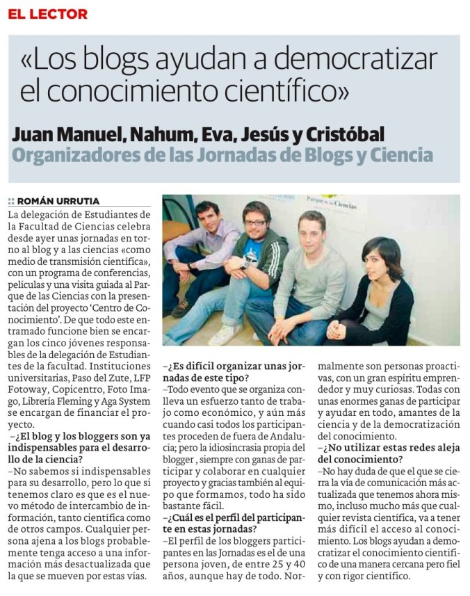 Ideal Blogs y Ciencia Granada