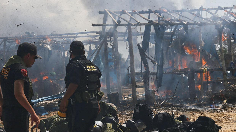 Interdicción policial en La Pampa_minería ilegal [Foto: El Comercio]