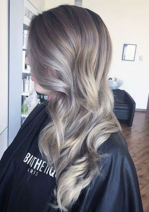 Natural Blonde Highlights On Dark Brown Hair Ash Blonde Balayage And Silver Ombre Hair Color Ideas 2017