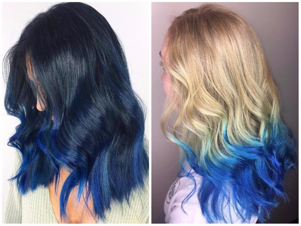 Ombre Look Blue Ombre Hair Color Light And Dark Shades 2017