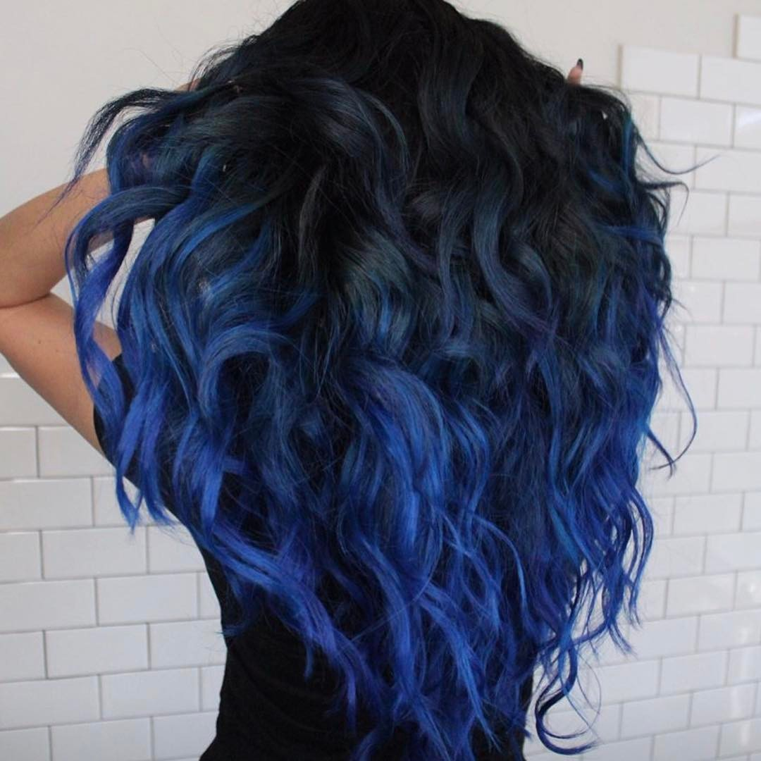 Platinum Hair Black Roots Blue Ombre Hair Color Light And Dark Shades 2017