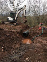 """24"""" Culvert pipe rehabilitation - Lasting Impression"""