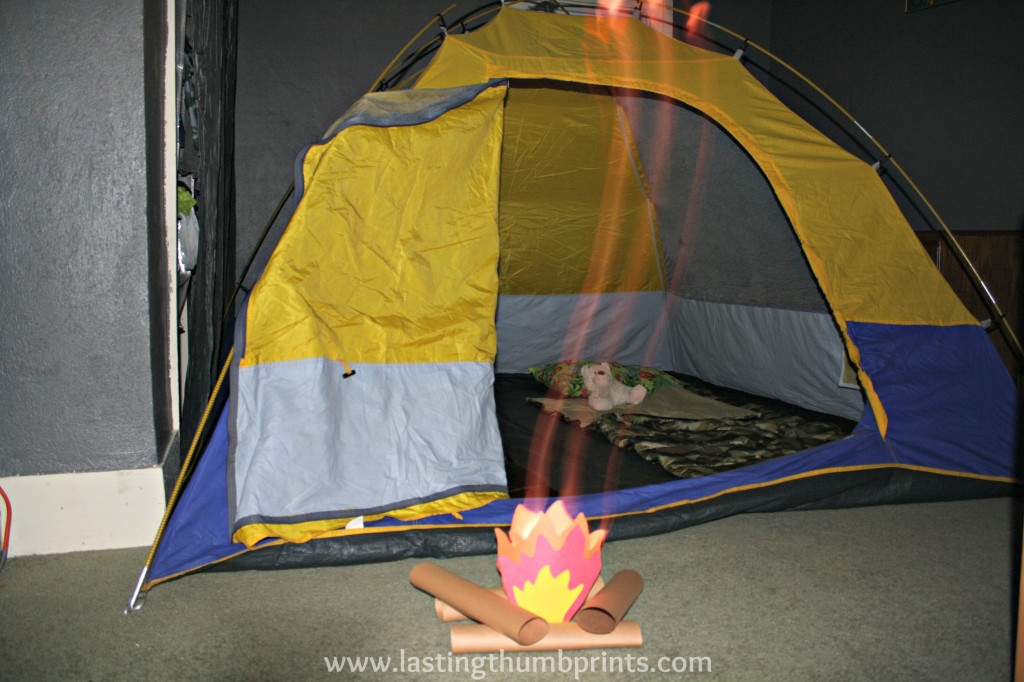 Family Night Fun Indoor Camping