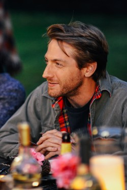 Sean Oakes (Fran Kranz) at dinner in LAST WEEKEND.
