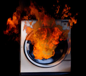 dryer-on-fire