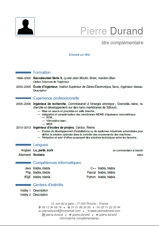 cv section informatique