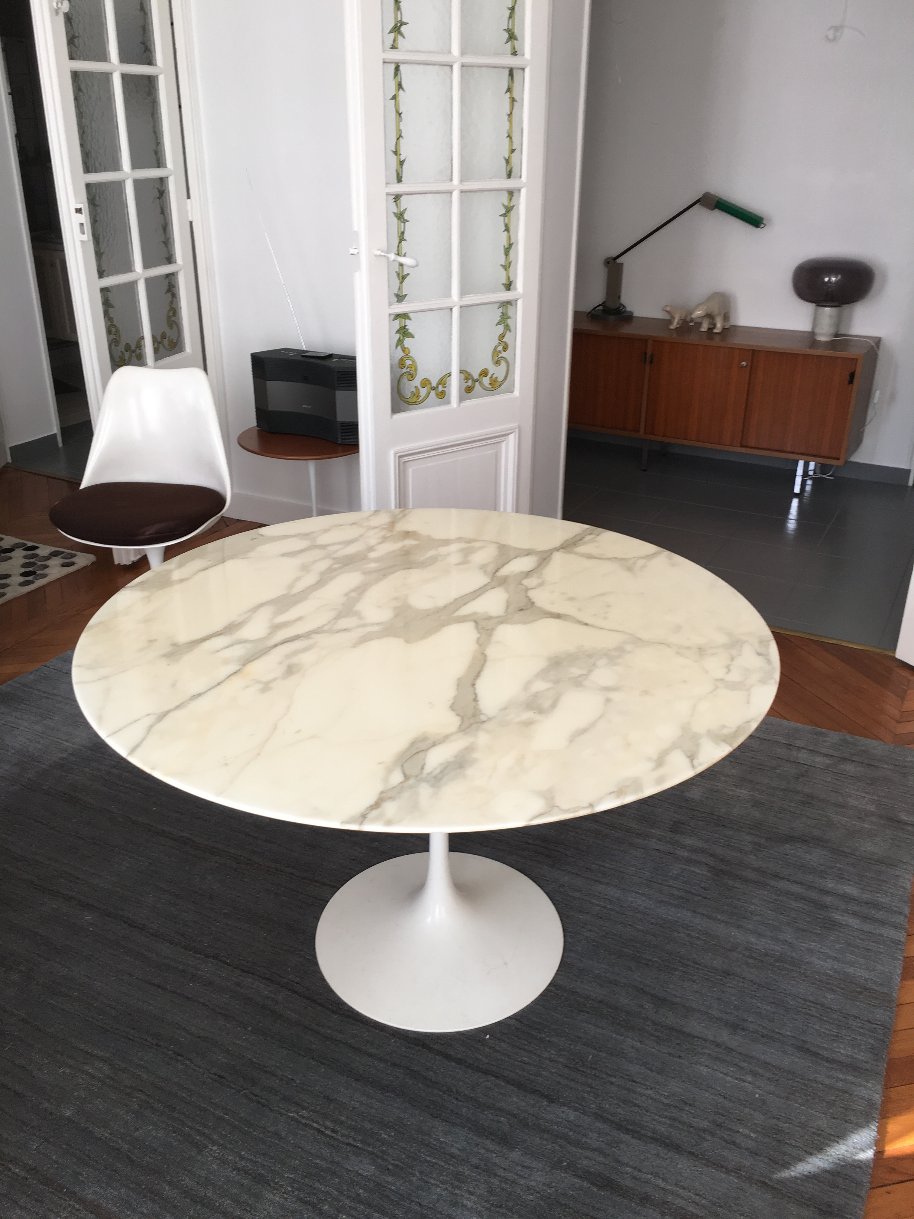 Atelier 50 Table Tulipe Saarinen 120 Cm édition Knoll L Atelier 50