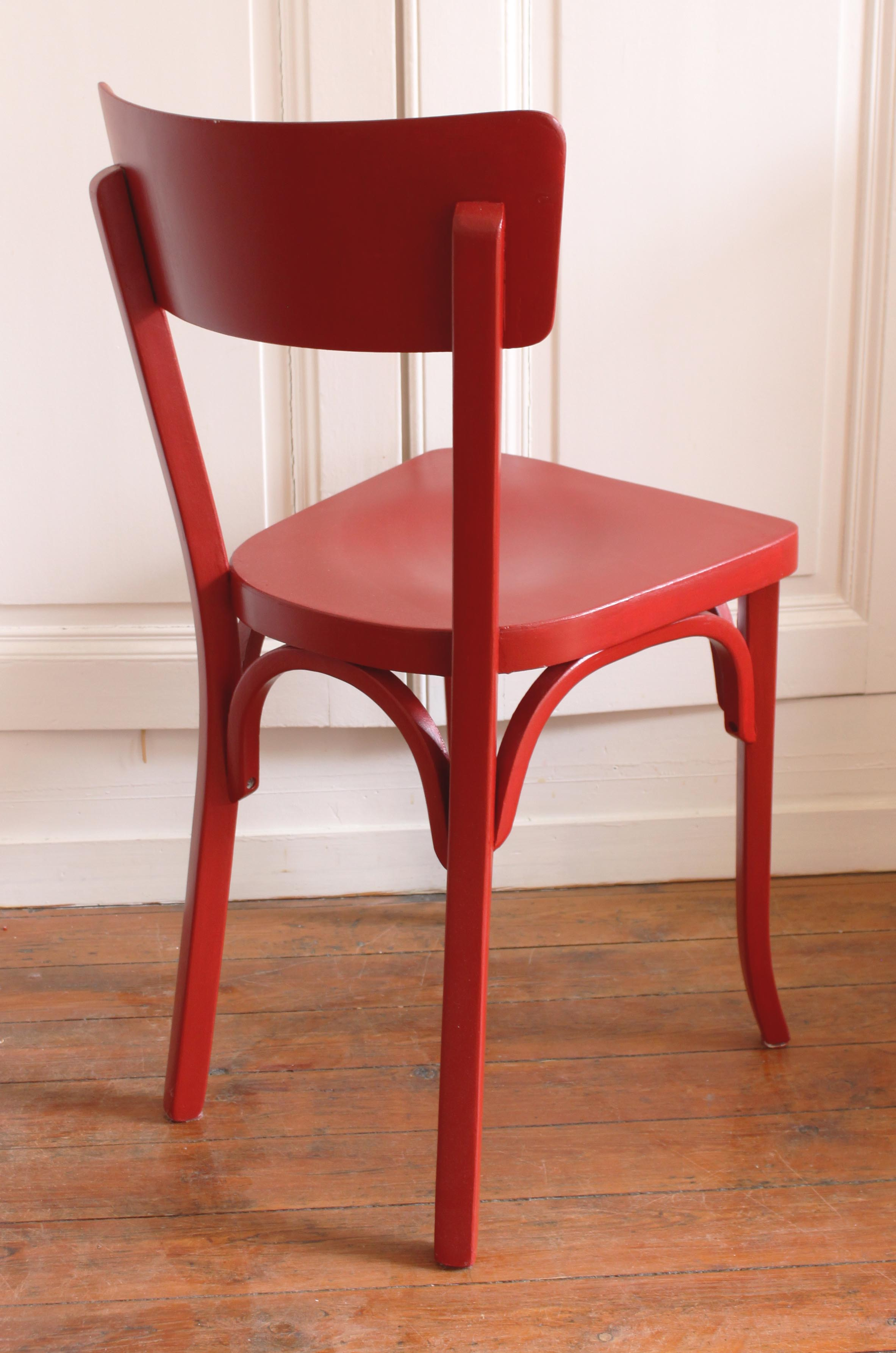 Chaises Rouges Chaise Bistrot Rouge