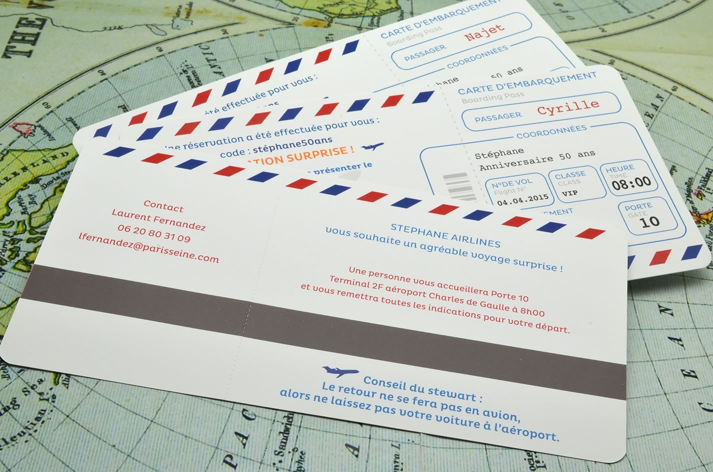 Billet Vol Carte Anniversaire 50 Ans Billet D Avion L Atelier D Elsa Faire