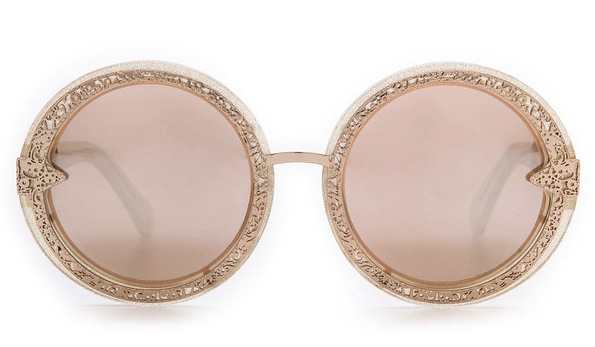 Karen Walker Orbit Filigree Sunglasses - Gold Glitter:Gold Mirror