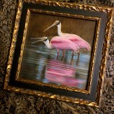 Rebecca Latham's work in the National Exhibition of Wildlife Art, Wirral, UK