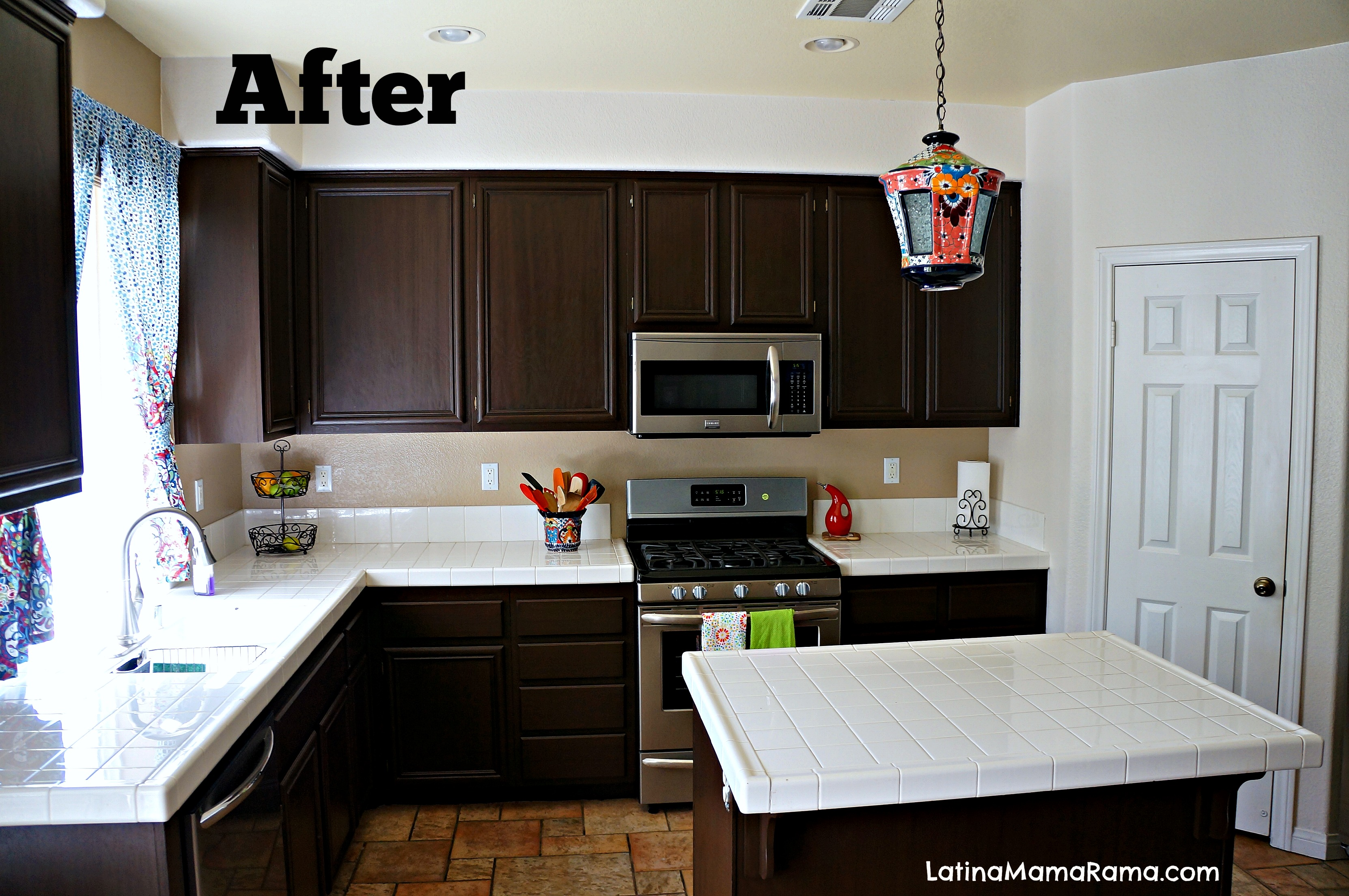 How To Strip And Refinish Kitchen Cabinets How To Refinish Your Kitchen Cabinets Latina Mama Rama